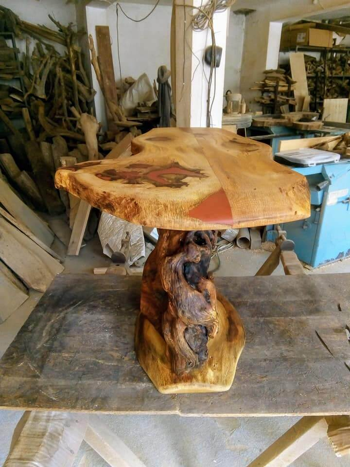 Hand made table wood