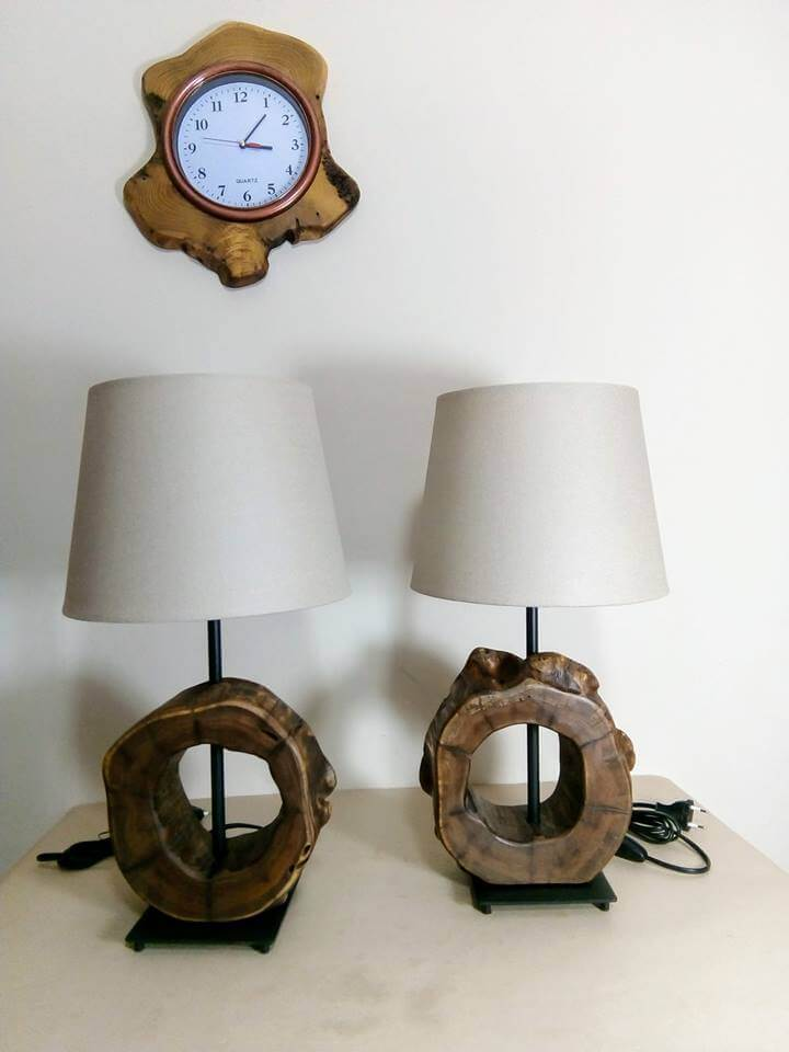 Lamps wooden stand